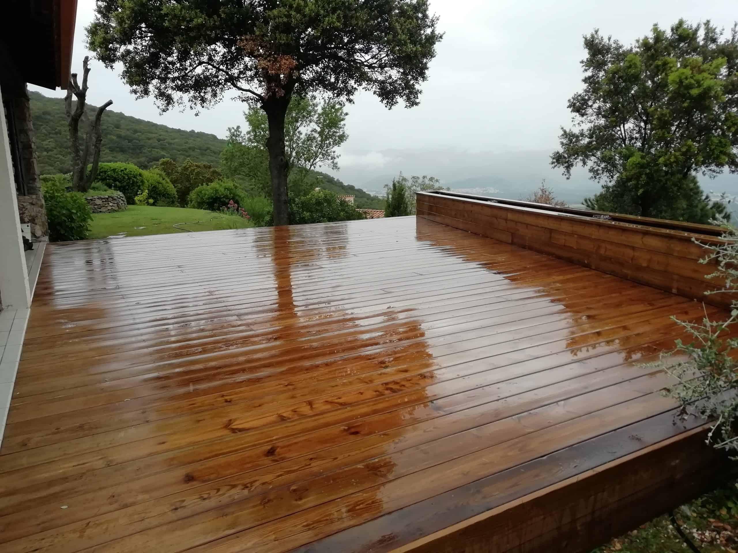 Terrasse bois arnaudies paysagiste